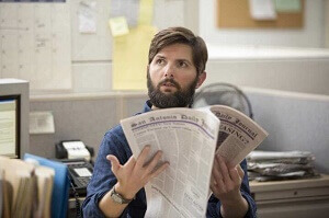 Adam Scott plays a reporter based on John MacCormack in Netflix movie