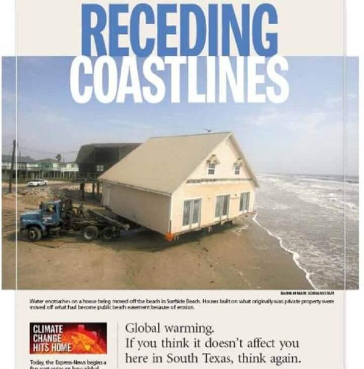 Receding Coastlines in Texas