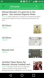 The search feature in Evernote's Android app