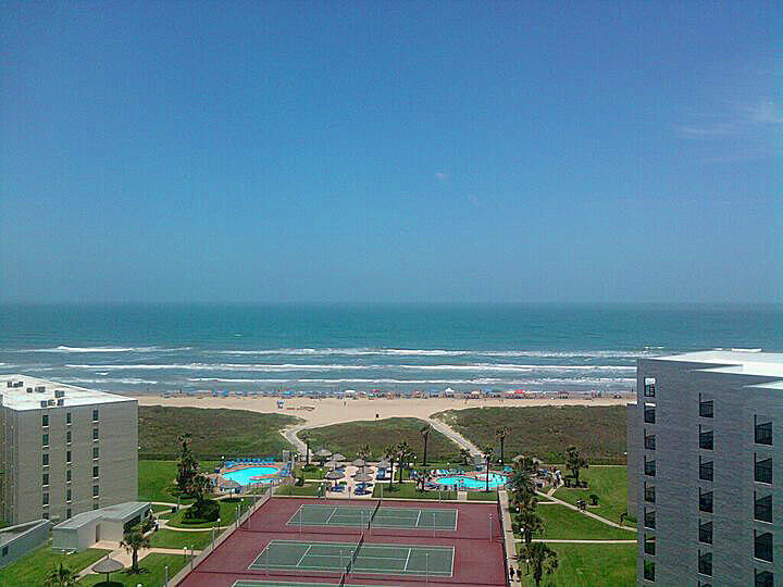 View of the beach at South Padre Island