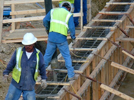 Construction workers on the Mission Reach of the River Walk
