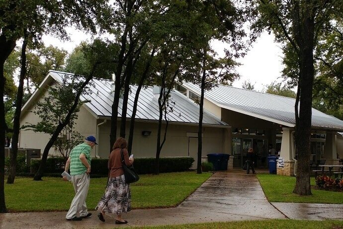 Voters head to Woodlawn Baptist Church in San Antonio to cast their ballots