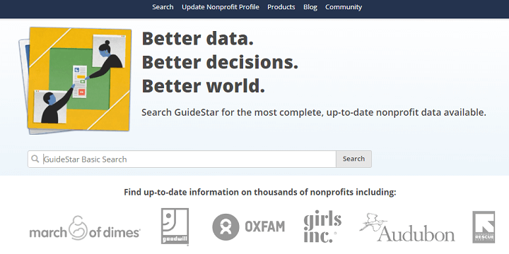 Guidestar Nonprofit Search