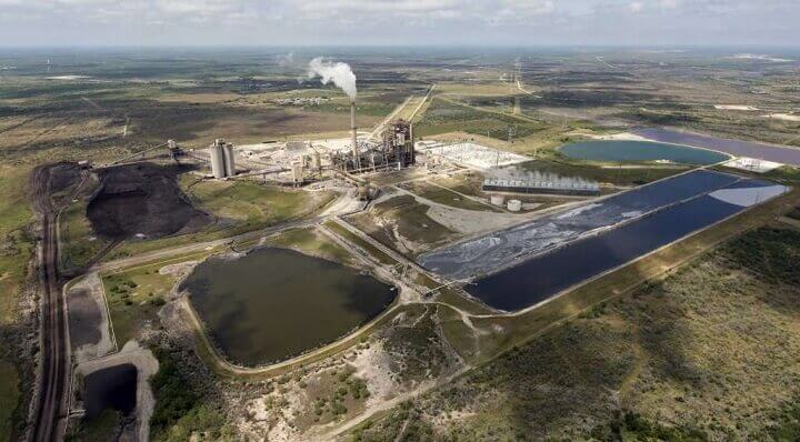 Coal mining in South Texas