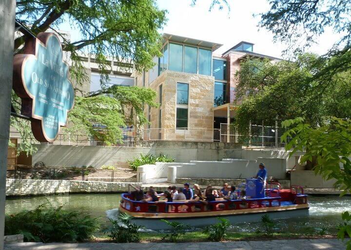 Barge on the San Antonio River